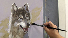 CC108 Two Socks: Painting a Wolf